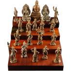 極小仏像 釈迦三尊十六善神(木台無し) 61393送料無料