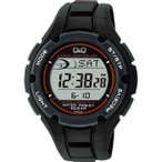 シチズン キューアンドキュー メンズ 腕時計 ソーラーメイト 電波ソーラー デジタル表示 クロノグラフ ブラック MHS6-300