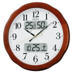 掛け時計 壁掛け時計 温度湿度計 電波時計 セイコー SEIKO クロック アナログ 温度 湿度表示 KX369B