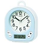 セイコークロック キッチン バスクロック タイマー機能付き 置き掛け兼用 クオーツ 置き時計 ブルー BZ358L