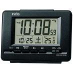 目覚まし時計 置き時計 電波時計 セイコー クロック SEIKO デジタル 黒メタリック NR535K