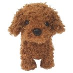 クンクン鳴きながら動くおもちゃ ウォーキングスイートパピー トイプードル トコトコ歩く犬のぬいぐるみ 49048