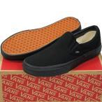 VANS ( バンズ ヴァンズ ) Classic Slip-On BLACK/BLACK ( 23-30cm )( スケートボード スケボー クラシック スリップオン スリッポン キャンバス USA企画 シュー