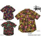 ショッピングstussy STUSSY ( ステューシー ) HAWAIIAN SPORT SHIRT ( ハワイアン アロハ 半袖シャツ ウーブン ストリート プレイド チェック シャツ ワークシャツ )