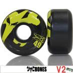 BONES ボーンズ 100's V2 Black 49mm スケートボード スケボー パーツ タイヤ ウィール