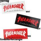 スケボー ステッカー スラッシャー ゴジラ レクタングル Thrasher Godzilla Rectangle Sticker スケートボード シール デカール ブランド スケボーステッカー車
