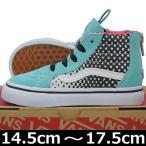 VANS ( バンズ ) Kids SK8-Hi-Zip ( Heart Fade ) Aqua Sky/Ture White (14.5-17.5cm) ( ばんず ヴァンズ スケートハイ キッズ 子供 靴 シューズ USA企画 ハート