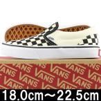 VANS バンズ Kids Classic Slip On Checkerboard Black/White ヴァンズ スリッポン スニーカー 靴 シューズ キッズ 子供 チェッカー