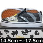 VANS ( バンズ ) Kids Slip-On ( Disney ) Cheshire Cat/Black (14.5-17.5cm) ( ばんず ヴァンズ スリッポン キッズ 子供 靴 シューズ USA企画 ディズニー 不思