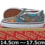 VANS ( バンズ ) Kids Classic Slip-On ( Van Doren ) Holiday/Pewter (14.5-17.5cm) ( ばんず ヴァンズ スケートボード スケボー スリッポン キッズ 子供 靴 シ