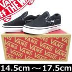 VANS ( バンズ ) Kids Classic Slip On Black (14.5-17.5cm) ( クラシック スリッポン キッズ 子供 シューズ 靴 スニーカー スケート ボード スケボー )