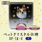 【カラー印刷】クリスタルペット位牌 KP-18-U (大)