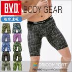 ロングボクサーパンツ BVD BODY GEAR 吸水速乾 プリント メンズスポーツ