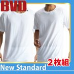 クルーネックTシャツ 2枚組 BVD NEW STANDARD / メンズ / インナー / 綿100%