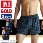 四角褲 - 柄トランクス BVD  2枚 パンツ セット GOLD/S,M,L/B.V.D./メンズインナー/下着/綿100%