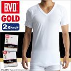 2枚セット BVD V首半袖シャツ GOLD アンダーウェア/メンズ/Vネック/綿100%