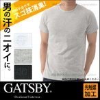 GATSBY ギャッツビー スゴ技消臭 クルーネック半袖Tシャツ 光触媒加工ガイアクリーン/ビジネスインナー カジュアル