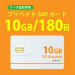 データ通信sim 10GB/180日  プリペイドSIMカード 4G/LTE対応 docomo MVNO 回線 送料無料 日本 国内 利用