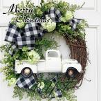 christmasクリスマスリース 壁掛け飾り クリスマス飾り付け 玄関ドア 花 冬 手作り フラワーリース 造花 花輪 ガーデニング 雑貨 装飾 ギフト お店 おしゃれ