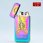 【即日発送】電子ライター USB充電式 プラズマ 充電式 蠍 スコーピオン GBPUSB603RSCOR