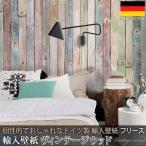 だまし絵 輸入壁紙 クロス 木目調 北欧 ドイツ製壁紙 不織布 フリース壁紙/Vintage wood ヴィンテージウッド 4NW-910