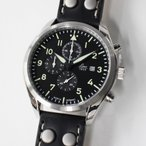 ドイツ時計 ラコ Laco 861915 Trier トリーア クォーツ クロノグラフ パイロットウォッチ 送料無料