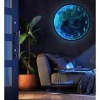 掛け時計 発光 壁掛け時計 静音 世界地図 おしゃれ 壁飾り 北欧 ジェネリック家具 インテリア 昼夜切り替え サウンドコントロール ユニークデザイン