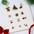 ブローチピン クリスマス風ピン 胸飾り クリスマス飾り クリスマスプレゼント コスチュームアクセサリー 12個セットピン かわいい
