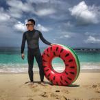 浮き輪 スイカ 120cm 大人用 浮輪 フロート うきわ プール 海 ビーチ スイミング 海水浴 水遊び 夏休み