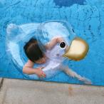 赤ちゃん 浮き輪 お風呂 アヒル クリア 浮輪 ベビーボート 足入れ 浮き輪 座付き ベビー用 子供用 うきわ キッズ フロート 水遊び 浮き具 プール 可愛い