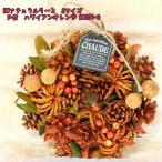 造花 HWナチュラルリース Sサイズ P付 ハワイアンオレンジ HW205-C