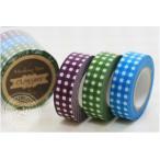 (ポストお届け選択OK) マスキングテープ ギンガム 3色セット A No.45012-01