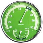 アナログ温湿度計 グリーン DRETEC(ドリテック) (手作り石鹸 温度計 湿度計)