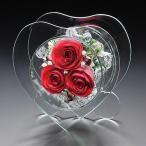 プリザーブドフラワー(バラ(赤):ハート型) 誕生日 記念日 母の日 ギフト プレゼント