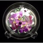 プリザードフラワー ピュアフラワー(ラン)p-mo-18) ボトルフラワー 誕生日 記念日 母の日 高級 ギフト ガラスドーム