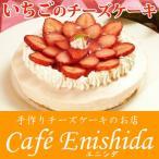 季節のフルーツレアチーズケーキ(苺)(いちご イチゴ フルーツケーキ チーズケーキ 誕生日ケーキ 記念日 ギフト)