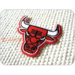 刺繍ワッペン/ChicagoBullsベニー(M)/シカゴ・ブルズ/NBA/バスケットボール/メール便送料無料/アイロン/アップリケ/CaJu+NiC[カジュニック]