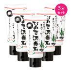 ひのき泥炭石洗顔フォーム120g×5本セット【送料無料!代引き・後払い手数料無料】