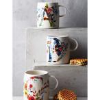 アンソロポロジー モノグラム マグ  Petal Palette Monogram Mug アルファベットが選べる