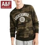 Abercrombie&Fitchアバクロンビーアンドフィッチ正規品メンズロゴアップリケスエットトシャツ