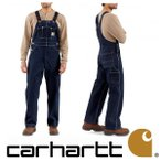 Carhartt Men's Denim Unlined Bib Overall R08カーハート デニム オーバーオール インディゴ