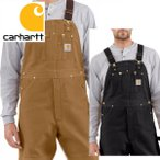 Carhartt カーハート正規品Men's Duck Bib Overall R01ブラウン ダック ビブ オーバーオール