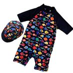 monoii ベビー 水着 男の子 赤ちゃん 水着 ベビー ラッシュガード 水着 子供 帽子付 b346