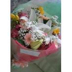 豪華なカサブランカと可愛らしいガーベラのミックスした花束!
