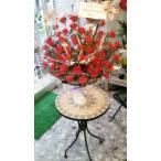 スタンド並みに豪華仕上がりの★赤い薔薇カゴのアレンジ★お誕生日・特別な贈り物に(*^_^*)