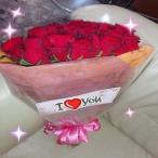 豪華な30本の赤いバラの花束にメッセージを添えて贈り物に(*^_^*)★