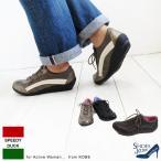 (SPEEDY DUCK(スピーディーダック))レザーサイドラインレディーススニーカー。タウンユースに最適神戸の靴メーカー直送。(FOO-MY-5501)H4.0