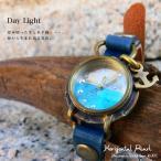(オリジナル・アンティーク風腕時計)水平線に浮かぶ真珠:腕時計(Day Light)・日本製・Jouet.コラボアイテム(レディース&メンズ)(S-M-HP1)
