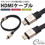 HDMIケーブル 4k2k対応 フラットケーブル 1m 金メッキ ハイスピード パソコン テレビ ゲーム 薄型 レコーダー 高画質