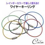 ワイヤーキーリング キーチェーン 7本セット キーホルダーロックワイヤー ステンレス カラフル アクセサリー 7色 15cm 1.5mm